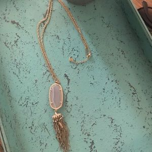 "Kendra Scott ""Rayne"" Pendant Tassel Long Necklace"